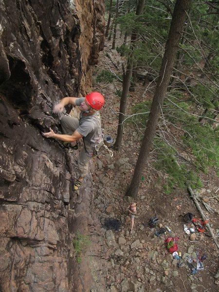 """Rock Climbing Photo: Climbing """"Reef on It!"""" in the Tan Corrid..."""
