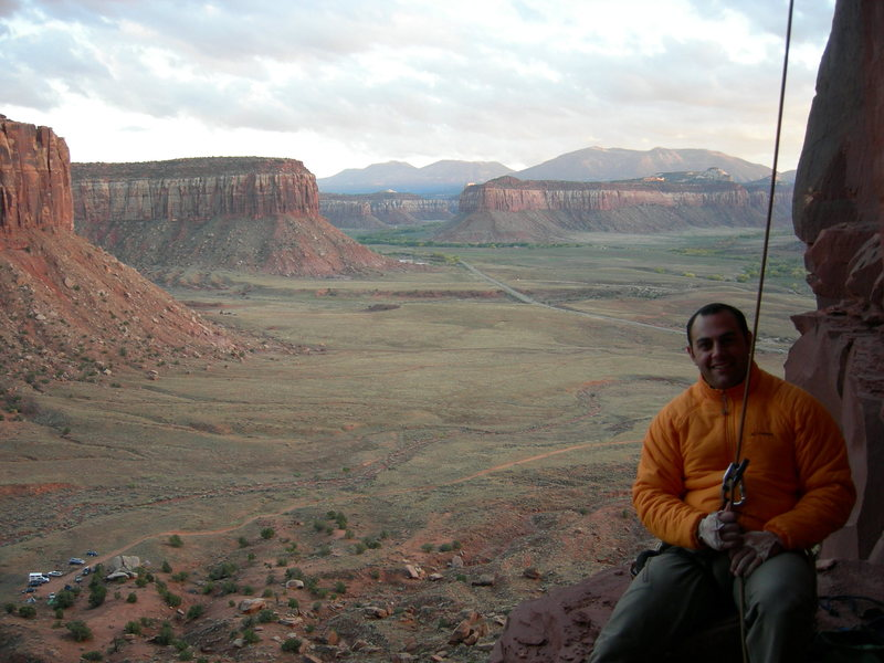 Rock Climbing Photo: On belay at Indian Creek. One of the most magical ...