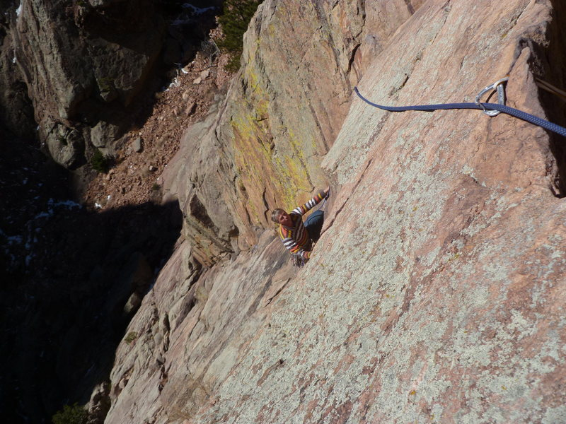 Just before the crux.