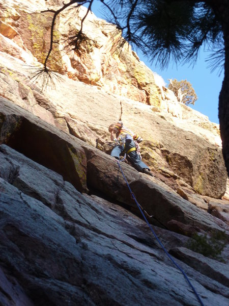 Rock Climbing Photo: Below the second pitch crux.