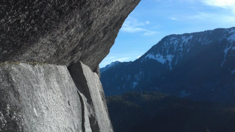 Rock Climbing Photo: The traverse move section it traverses out to the ...
