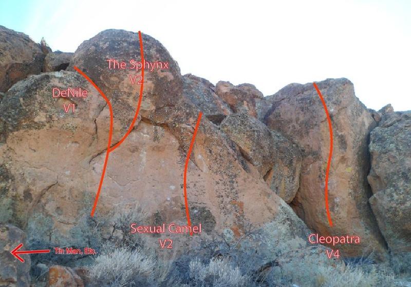 Rock Climbing Photo: Cleopatra wall.