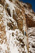 Rock Climbing Photo: Storm Mountain Falls WI 4-5. Big Cottonwood Canyon...