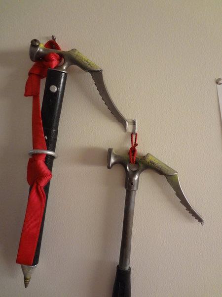 Rock Climbing Photo: Hummingbirds -My frist ice tools