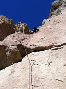 Rock Climbing Photo: Mike on Pitch 4.