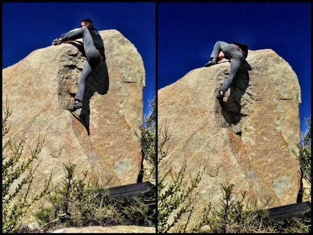 Rock Climbing Photo: putting on a flexibility clinic