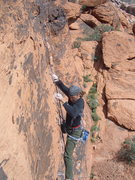 Rock Climbing Photo: Mike on Mannish Boys