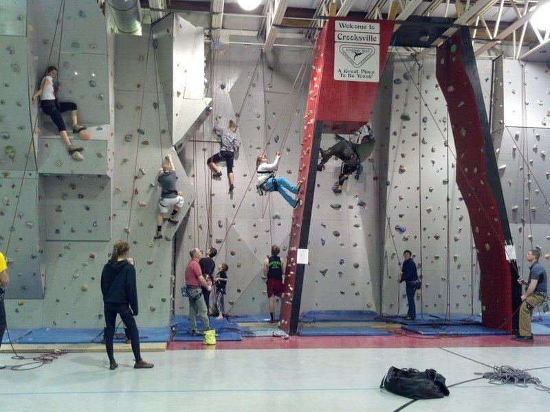 Rock Climbing Photo: Crooksville Rec Center Climbing Wall 3