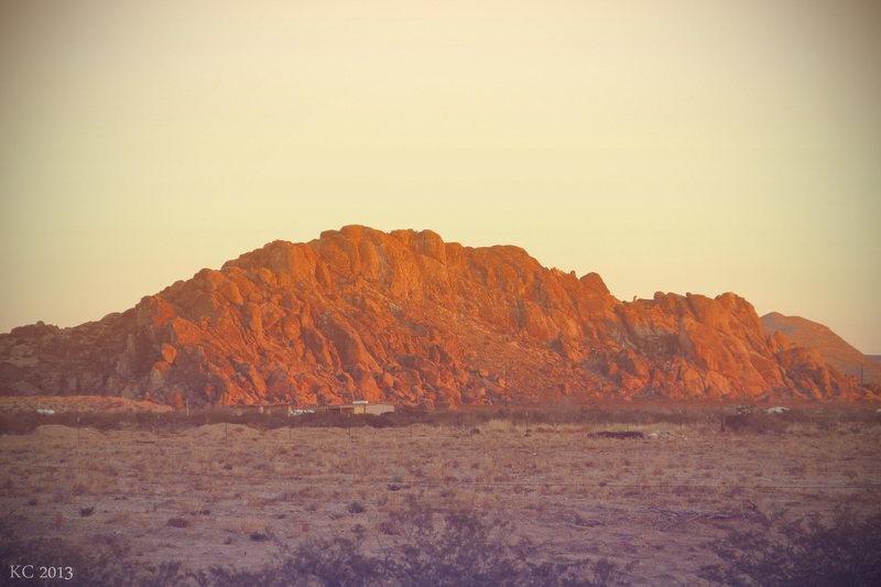 Rock Climbing Photo: Sunset at Hueco