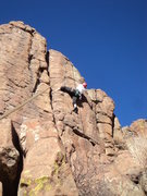 Rock Climbing Photo: This is in the middle of the interesting part of t...