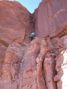 Rock Climbing Photo: Bill on the first pitch.