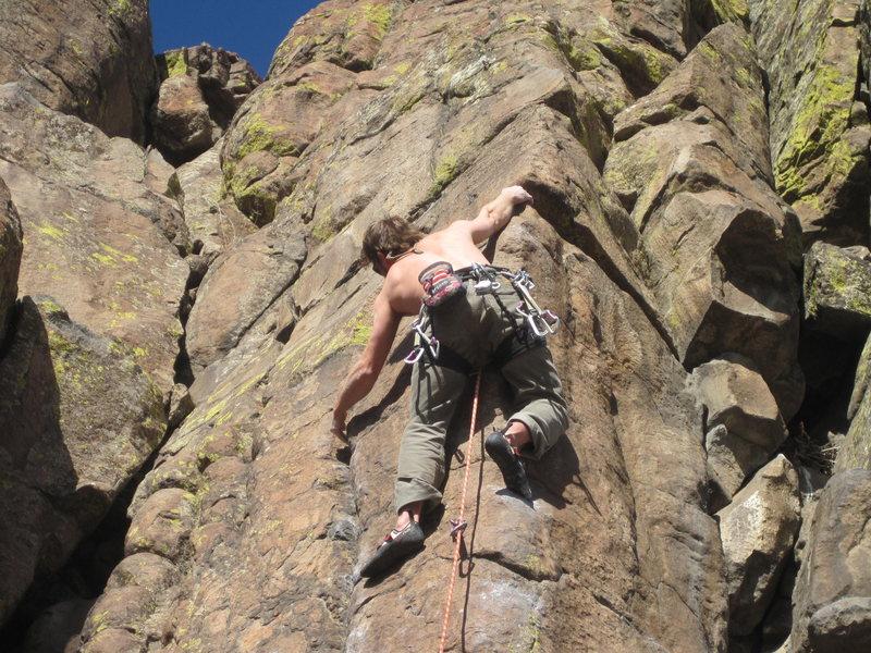 "Rock Climbing Photo: How to climb 5.12...My first legit 5.12, ""Han..."