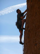 Rock Climbing Photo: On the steep and well protected features of the &q...