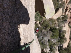 Rock Climbing Photo: Looking down from partway up pitch 2