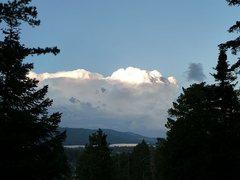 Rock Climbing Photo: Storm clouds over Big Bear Lake, San Bernardino Mo...