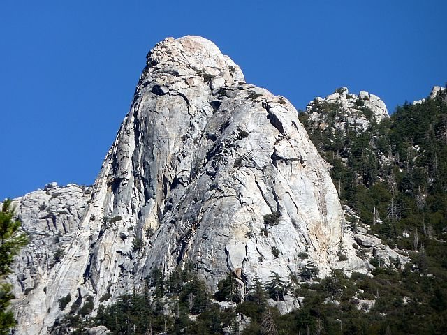 Rock Climbing Photo: Tahquitz from Fern Valley, Idyllwild