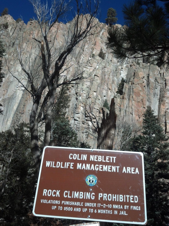 Rock climbing photo new mexico sucks ass cimarron canyon ne new mexi