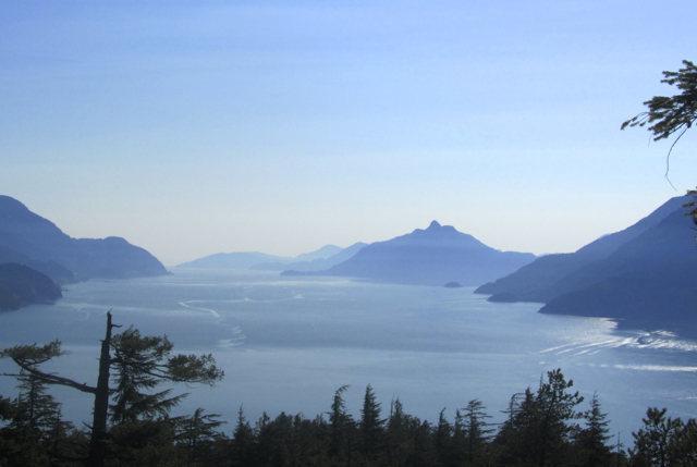 View of Howe Sound from Wicker Cranium, Murrin Park, Squamish