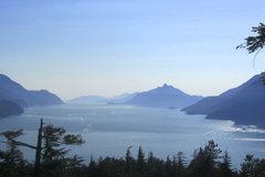 Rock Climbing Photo: View of Howe Sound from Wicker Cranium, Murrin Par...