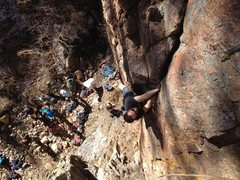 Rock Climbing Photo: John O. firing.