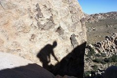 Rock Climbing Photo: The shadow marks the start of the descent from DQ ...
