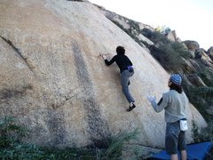 Rock Climbing Photo: The crux moves on perfect rock.