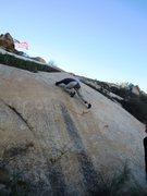 Rock Climbing Photo: The finishing moves.