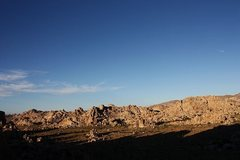 Rock Climbing Photo: The view from atop the DQ Wall, Joshua Tree NP
