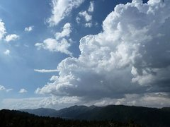 Rock Climbing Photo: Nice clouds above the lake, Big Bear