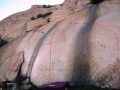 Rock Climbing Photo: Superstar Slab Left Topo
