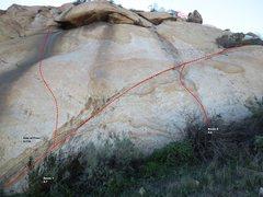 Rock Climbing Photo: Superstar Slab Center Left Topo