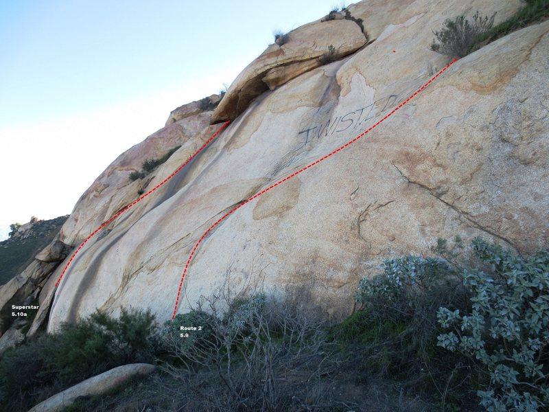 Rock Climbing Photo: Superstar Slab Left Topo