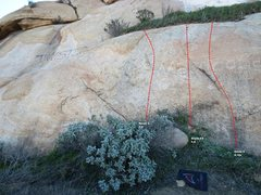 Rock Climbing Photo: Superstar Slab Right Center Topo