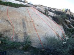 Rock Climbing Photo: Superstar Slab Right Topo