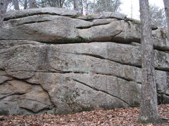 Rock Climbing Photo: The Backwoods Wall - the middle