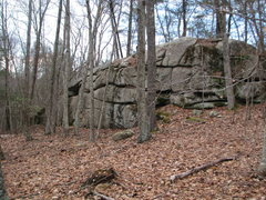 Rock Climbing Photo: Backwoods Wall as you see it from the trail