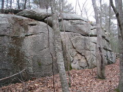 Rock Climbing Photo: The Backwoods Wall - another view. It has some nic...