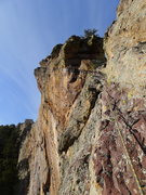 Rock Climbing Photo: P4 (we belayed at the notch then did the rest as 2...