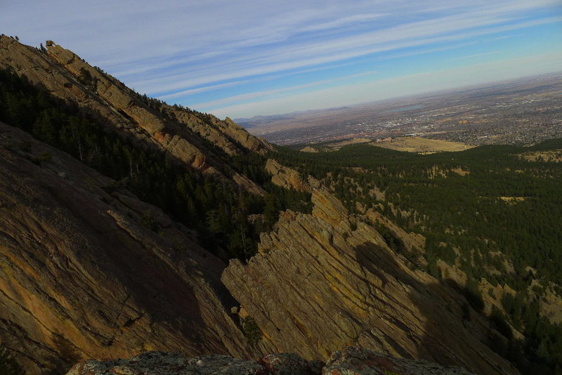 Rock Climbing Photo: The view east.