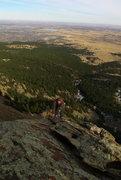 Rock Climbing Photo: Matt about to hit the summit.