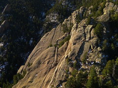Rock Climbing Photo: E (foreground) and W Ironing Boards from Third Fla...