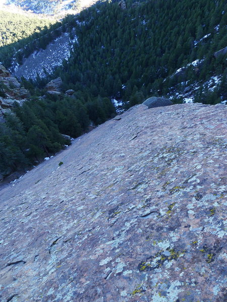 Rock Climbing Photo: Looking down the face (we mostly downclimbed on/ne...