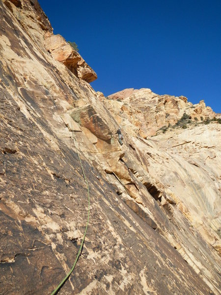 Rock Climbing Photo: Pitch 4 traverse.