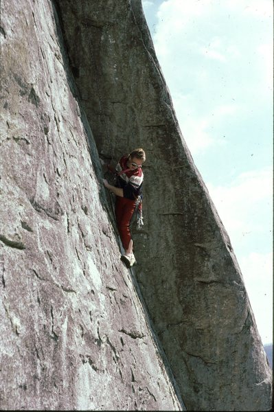 Rock Climbing Photo: Buddy Price on Way-Rad sometime in mid 80tys 1987?