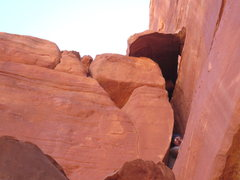 Rock Climbing Photo: The SQUEEZE chimney.