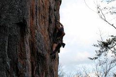 Rock Climbing Photo: Red Wall  Kitty Litter (5.9+) trad  Crowders Mount...