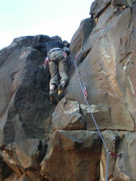 Rock Climbing Photo: FA Esprit de Corps