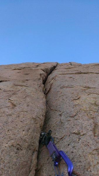 Rock Climbing Photo: the crack