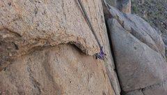 Rock Climbing Photo: the flake traverse