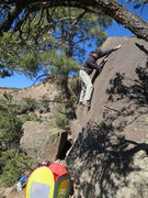 Rock Climbing Photo: Greg making his way to the top with the child tent...